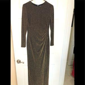 Ralph Lauren Metallic Surplice Gown